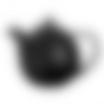 Black Stainless Steel Porcelain Curve Teapot