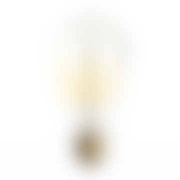 40 W Amber Crystal Glass Edison Pebble Bulb