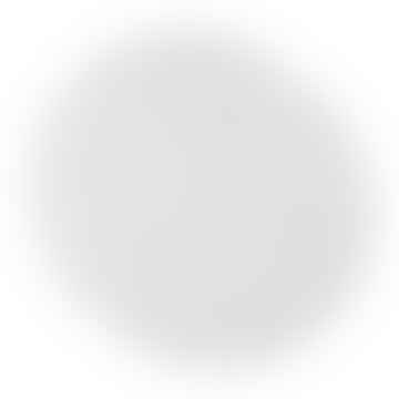 Set of 2 Round White Paper Placemat