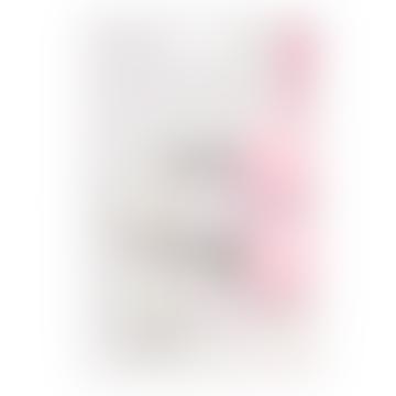 pastel pink & white pom pom children's glitter hair slide