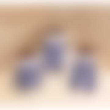 2L Blue Stripe Terracotta Pitcher