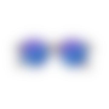 Blue Tortoise Mirror Shape D Sunglasses