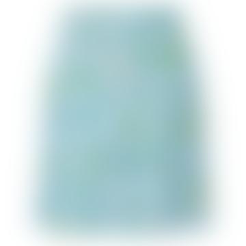 Light Blue Viscose All Over Print Dakota Skirt