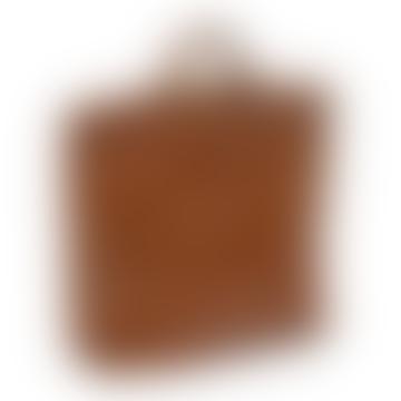 Cognac Leather Shopper Handbag