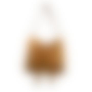Tan Fringe Leather Handbag