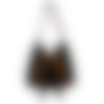 Black Fringe Leather Handbag