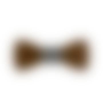 Dark Milan Wooden Bow Tie