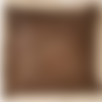 Brown Leather Square Cushion