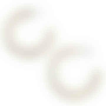 Chunky Midi Brass Hoop Earrings