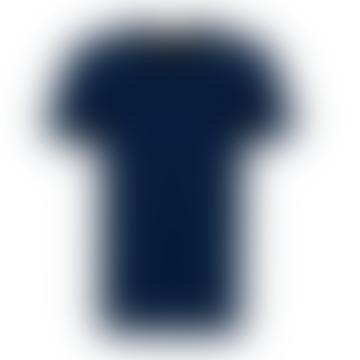 Rebel & Crown Slim Fit Navy V Neck T-shirt
