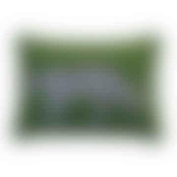 Green Felt Woolen Leopard Cushion