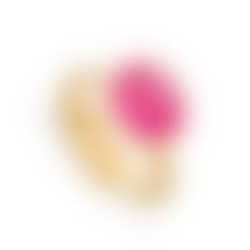 SVP Jewellery Light Ruby Quartz Gold Midi Adjustable Ring