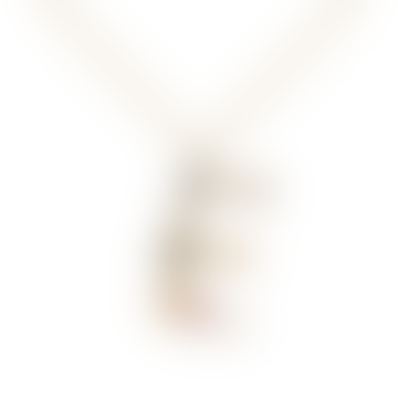 Sparkling Initial Necklace Gold Letter E