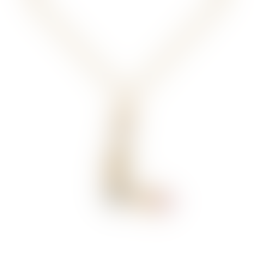 Sparkling Initial Necklace Gold Letter L