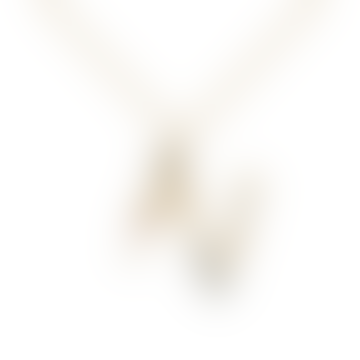 Sparkling Initial Necklace Gold Letter N
