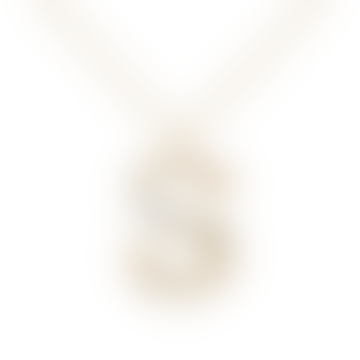 Sparkling Initial Necklace Gold Letter S