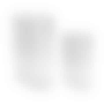 Jarrones acanalados transparentes juego de 2