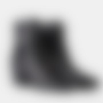Black Leather Georgia Boots