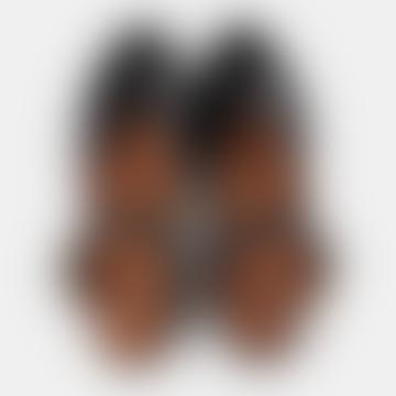 Black Croco Pennie Sandals
