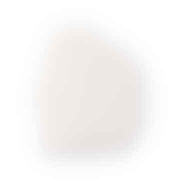 Ornement mural grand visage blanc mat
