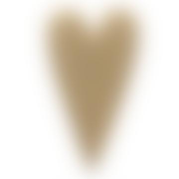 Gold Brass Heart Brooch