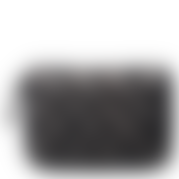 Black Braidy Eel Skin Purse