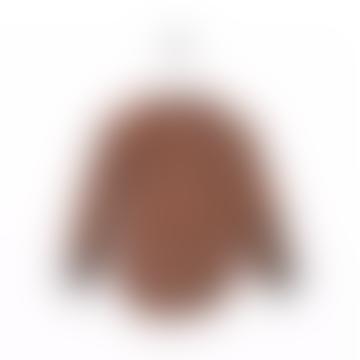 Fänkål tunic stripe rust ecru black Bric-abrac