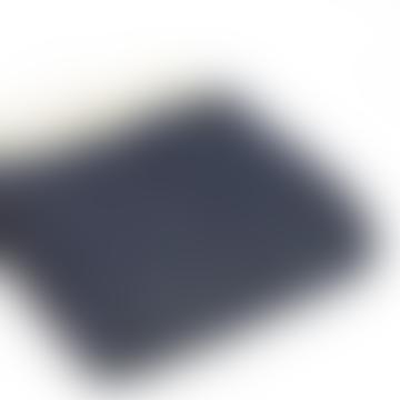 Navy Wool Fishbone Throw