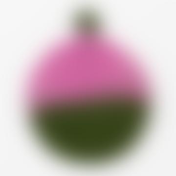 Pink/Green Felt Pot holder