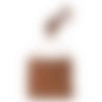 Medium Brown PU Leather Shoulder Bag with Flap