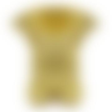 Yellow Earthenware Doodle Vase