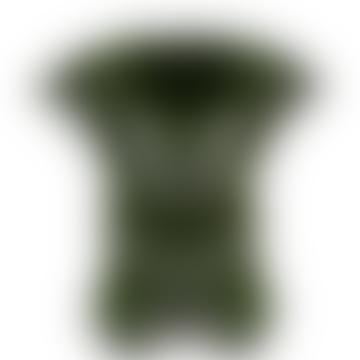 Green Earthenware Doodle Vase