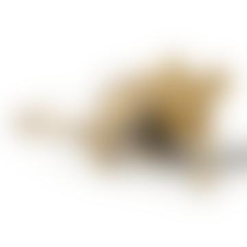 Seletti Gold Lying Mouse Lamp