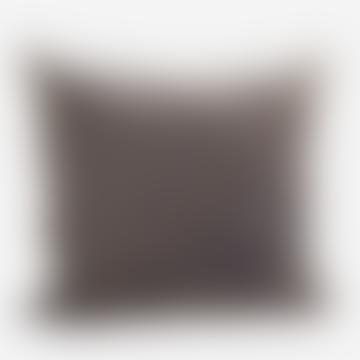 Dark Grey Velvet Cushion
