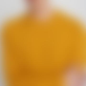 Mustard Wool Round Collar Lyon Sweater