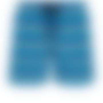 Blue Marine Polyamide Herringbones Turtles Moorea Swim Shorts