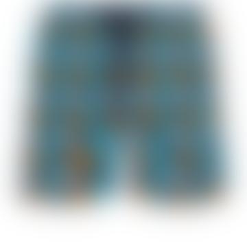 Blue Marine Polyamide Turtles Stars Moorea Swim Shorts
