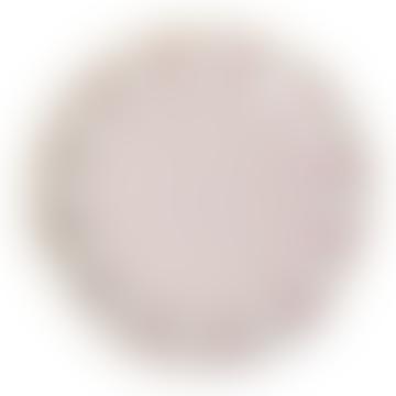 Meri Meri Pack of 8 Large Dusty Pink Fan Stripe Plates