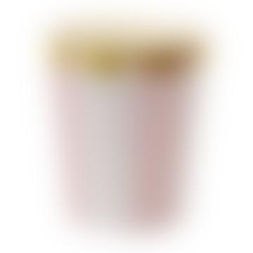 Paquet de 8 ventouses à rayures éventail rose de 260 ml