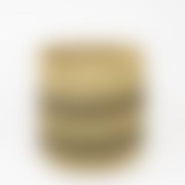 Natural/black Iringa Rund Basket, Medium size