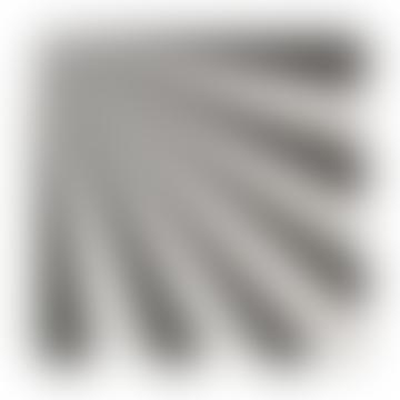 Meri Meri Pack of 20 Large Black Fan Stripe Napkins