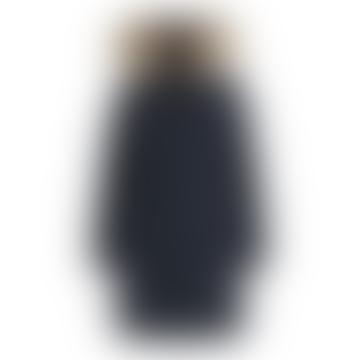 Midnight Blue Polyester Luxury Boulder Coat