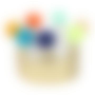 Meri Meri Gold Leatherette and Felt Pom Pom Kids Crown