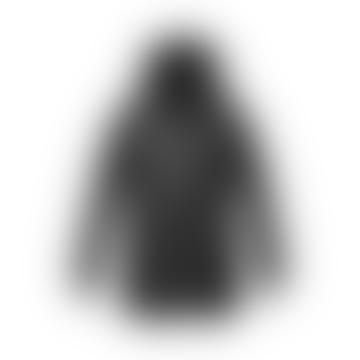 Nobis Black Polyester Crosshatch Mens Military Coat