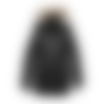 Nobis Charcoal Polyester Mens Long Coat