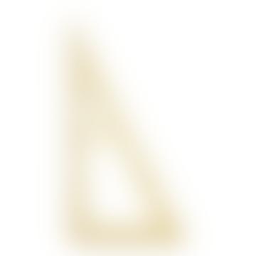 19.5cm Golden Brass Triangular Ruler