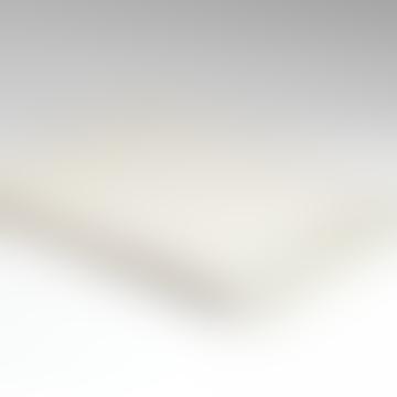 Herringbone Cream Off-White Soft Natural Wool Throw Blanket