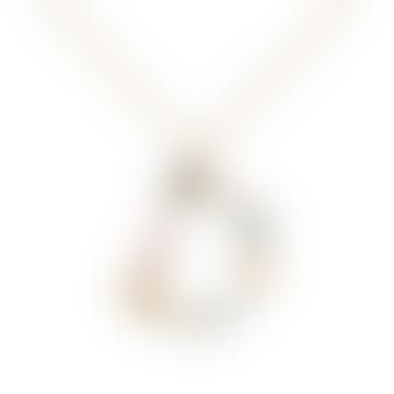 Sparkling Initial Necklace Gold Letter D