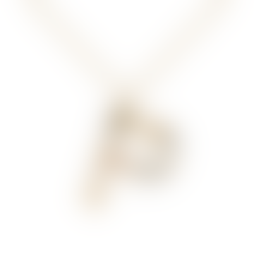 Sparkling Initial Necklace Gold Letter P