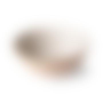 HKliving Creme Stoneware Bold and Basic Egg Shell Bowl